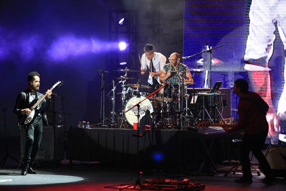 Imagen del concierto de la agrupación mexicana La Gusana Ciega, en Durango.