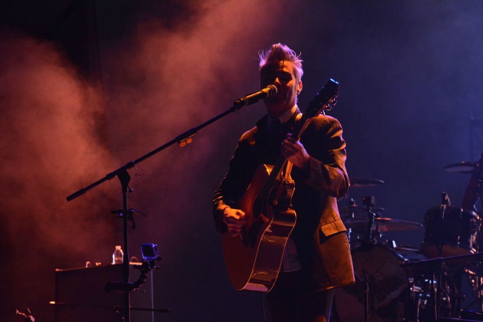 Imagen del concierto de la agrupación mexicana La Gusana Ciega, en Durango,