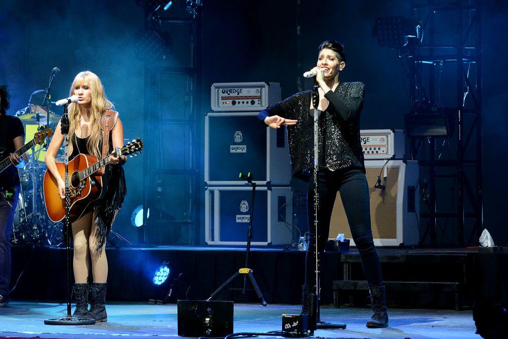 Imagen del concierto del dúo de rock-pop mexicano Ha*Ash, en Durango.