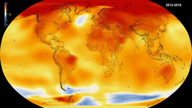 Temperatura 2016 año más caluroso
